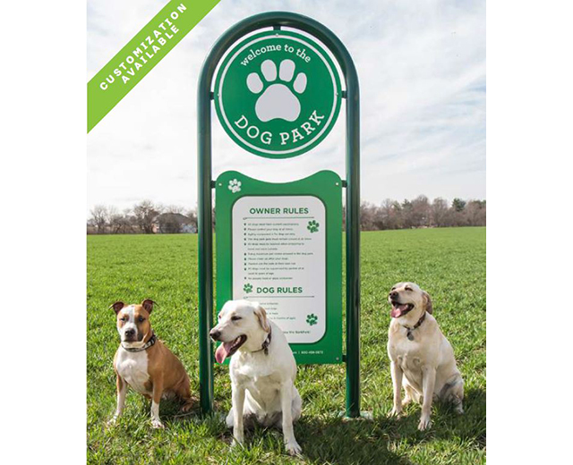 Premium Welcome Sign Image with 3 dogs