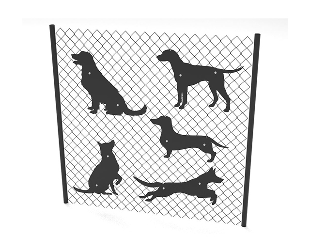 5 dog silhouettes